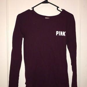 XS Maroon PINK VS Long Sleeve